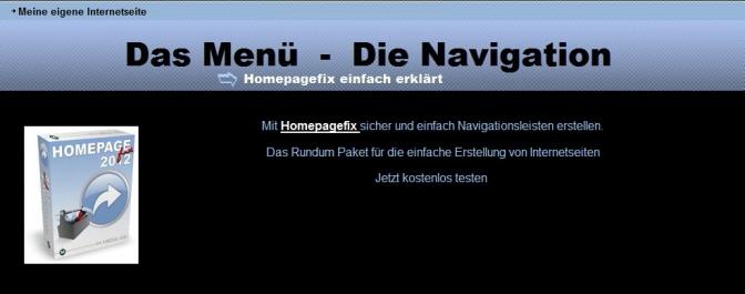 Navigation Internetseite
