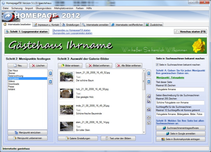 Homapage Software